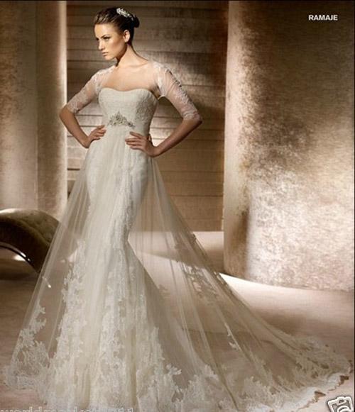 Trang điểm cô dâu - Top 10 váy đuôi cá tôn dáng cho cô dâu