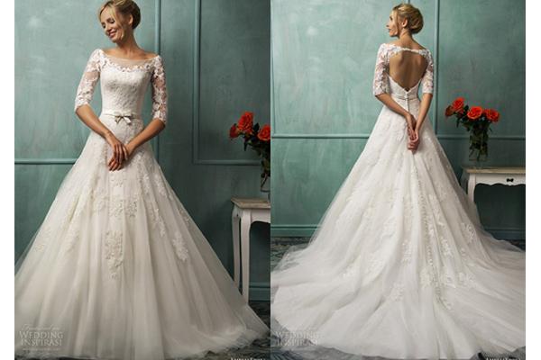 Trang điểm cô dâu - Váy cưới hở lưng gợi cảm 2014