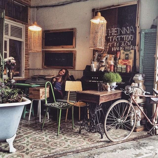 chụp ảnh cưới tại quán cà phê bicycle up