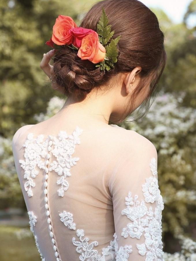 kiểu tóc cưới cô dâu đẹp