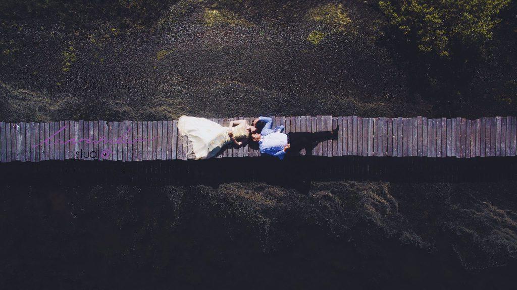 Chụp hình cưới bằng flycam tại Hồ Cốc