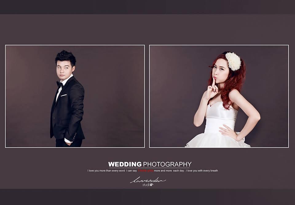 ý tưởng góc chụp cưới trong studio đẹp