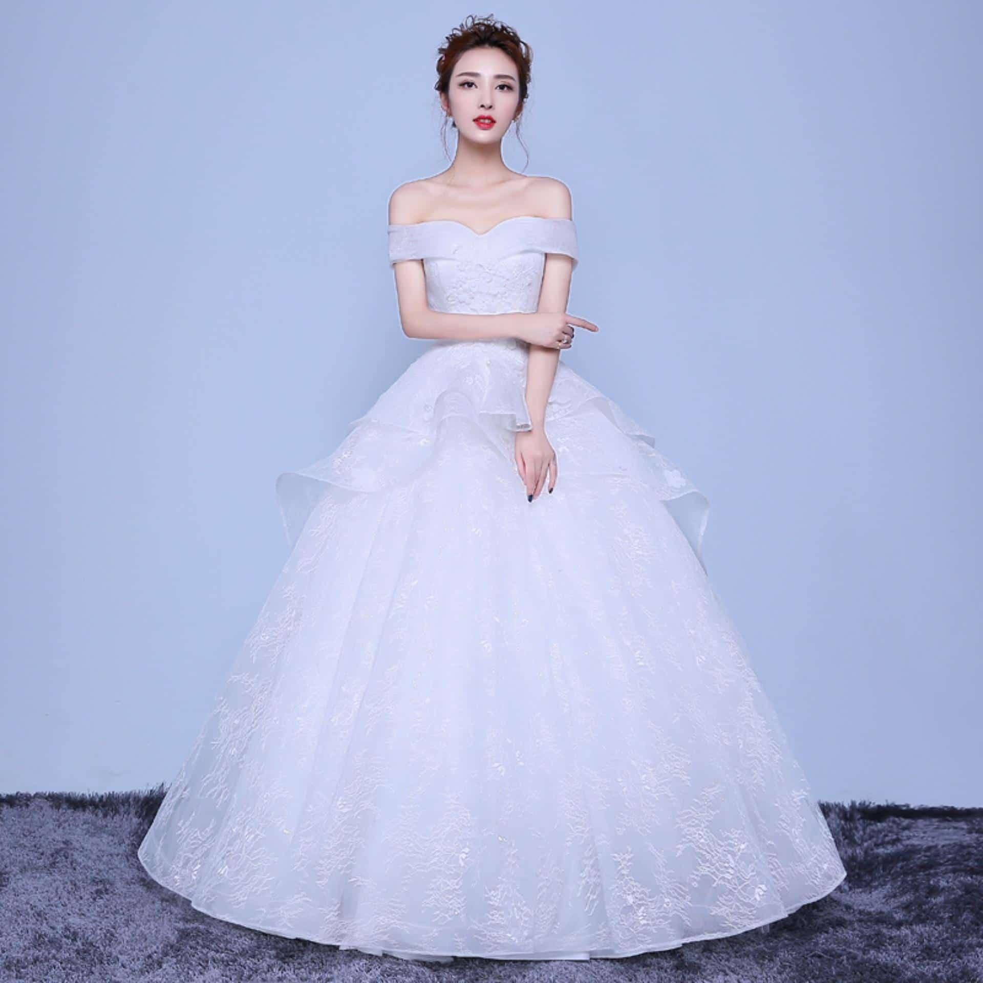 Kết quả hình ảnh cho Áo cưới công chúa